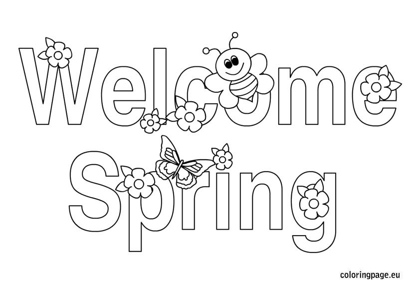 5 Images of Printable Coloring Pages Welcome To Banner