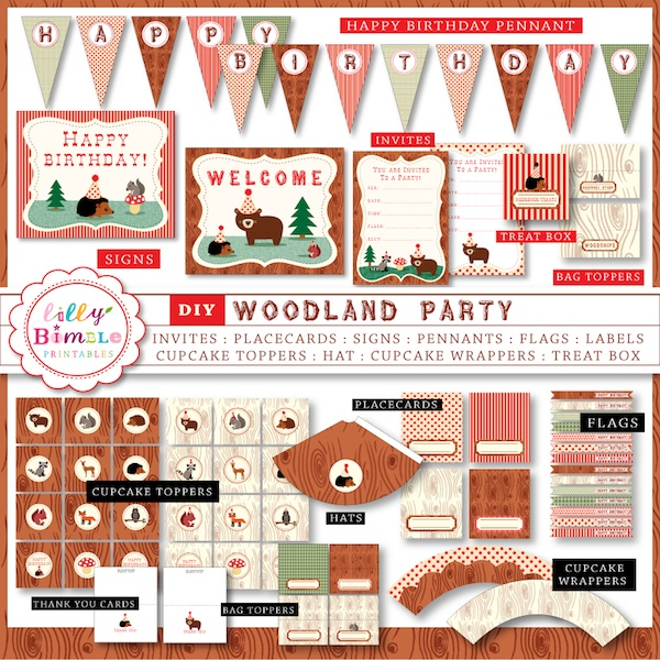 7 Images of Woodland Party Printables