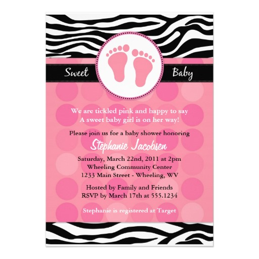 9 Images of Zebra Baby Shower Invitations Templates Free Printable