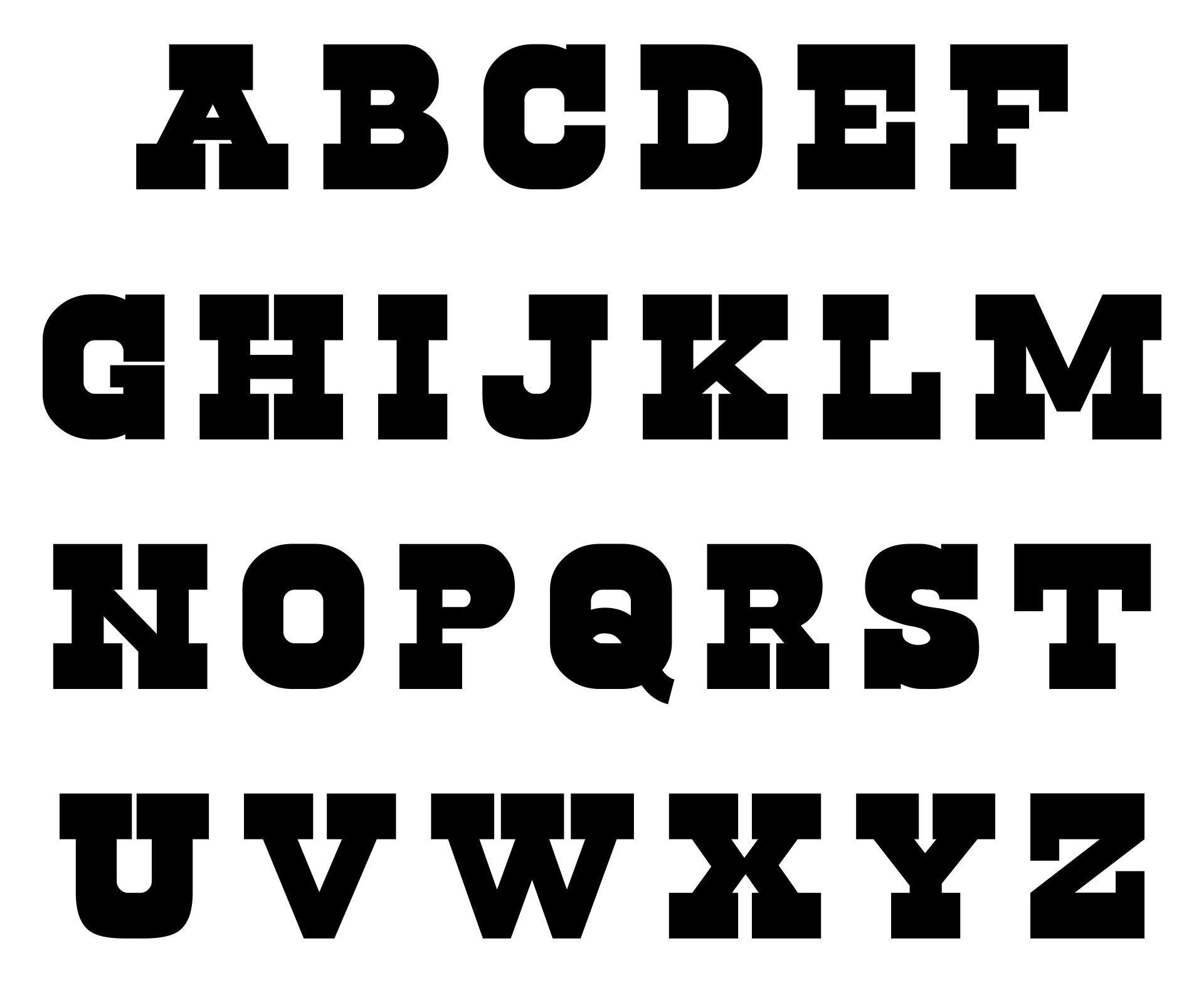 2 Inch Alphabet Letters Printable Template