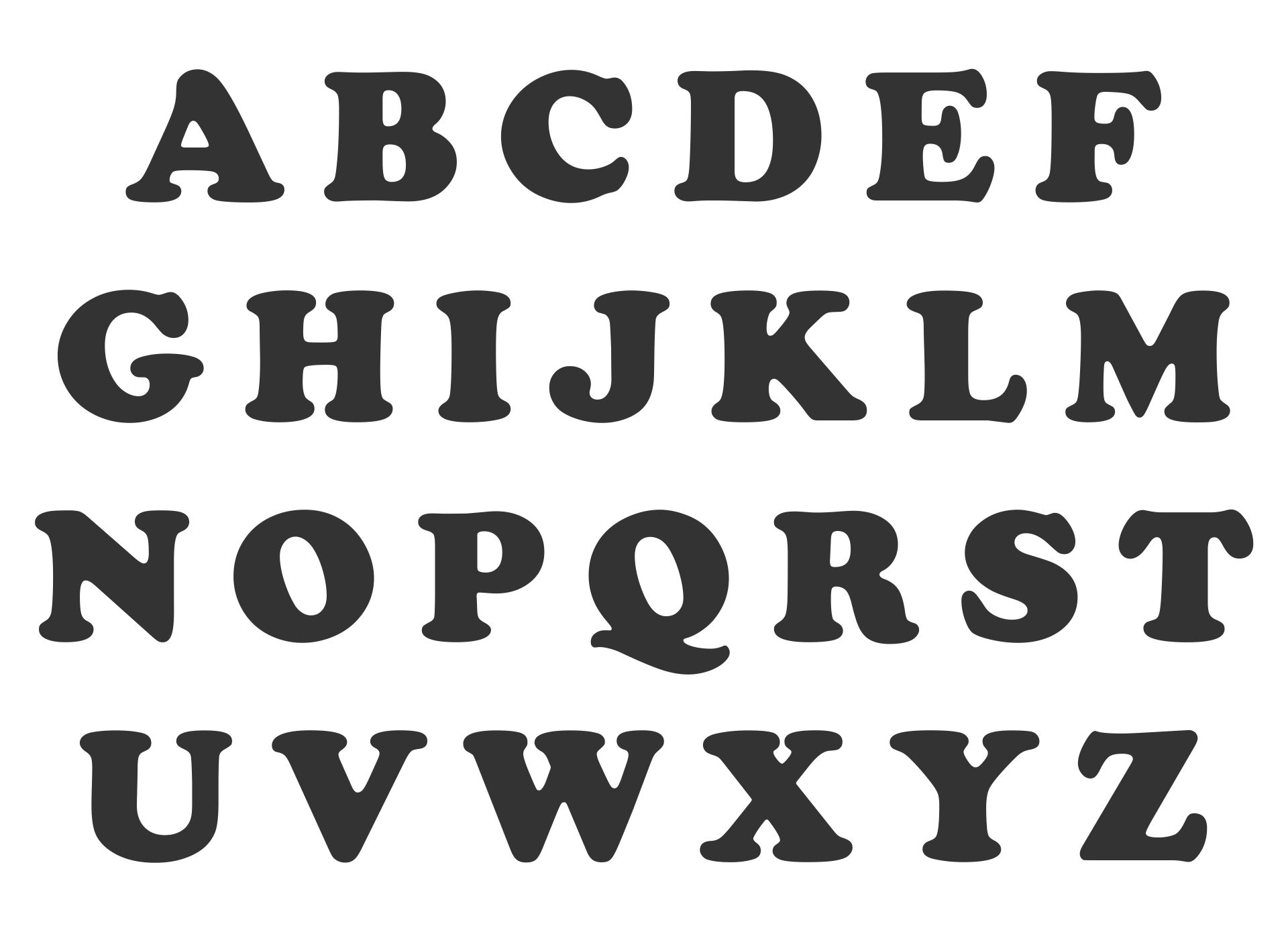 4 Inch Printable Alphabet Letters Templates