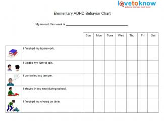 6 Images of Printable ADHD Behavior Charts