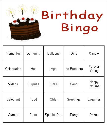 6 Images of Free Printable Birthday Bingo Games