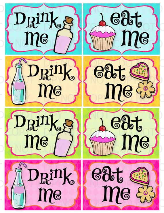 And Eat Me Drink Me Tags Printable