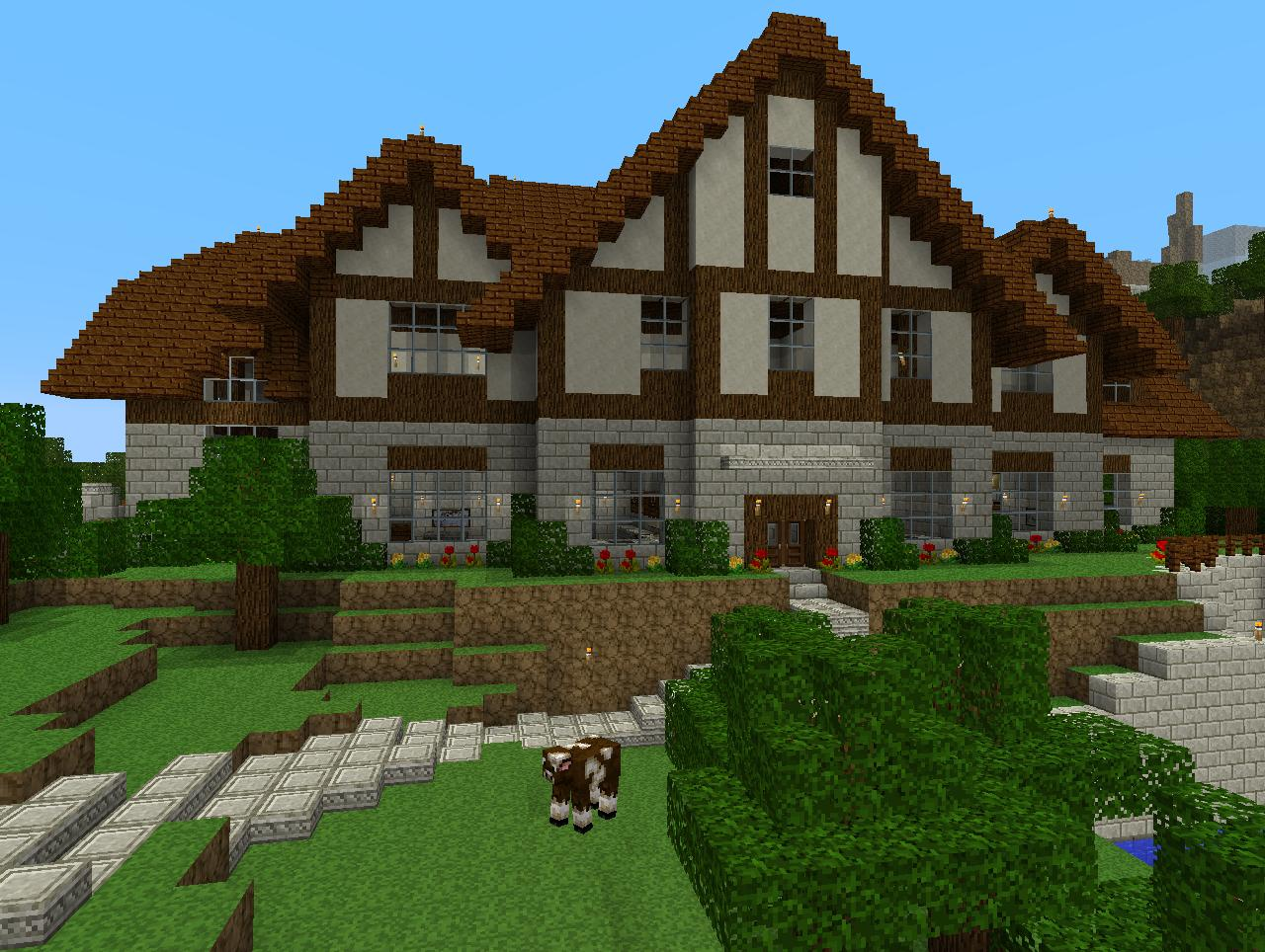 4 Best Images Of Big House Minecraft Printables Minecraft