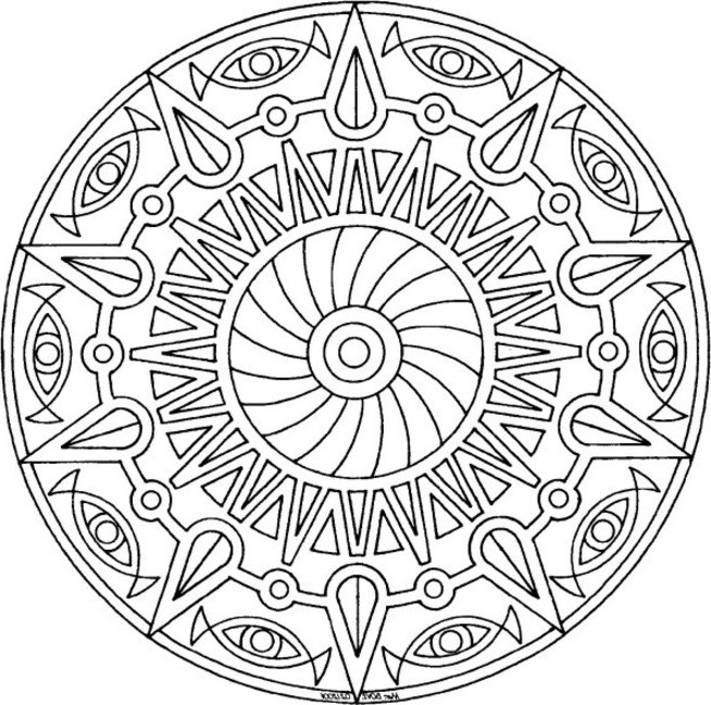 6 Images of Awesome Adult Coloring Pages Free Printables