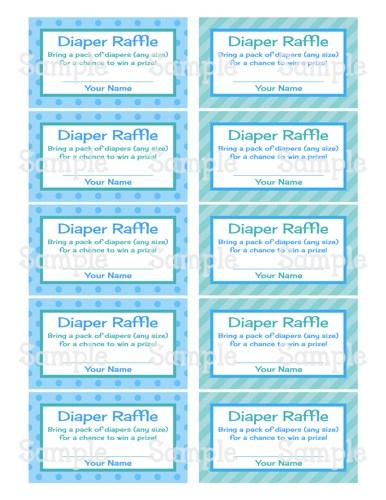 free printable baby raffle tickets free printable baby diaper raffle