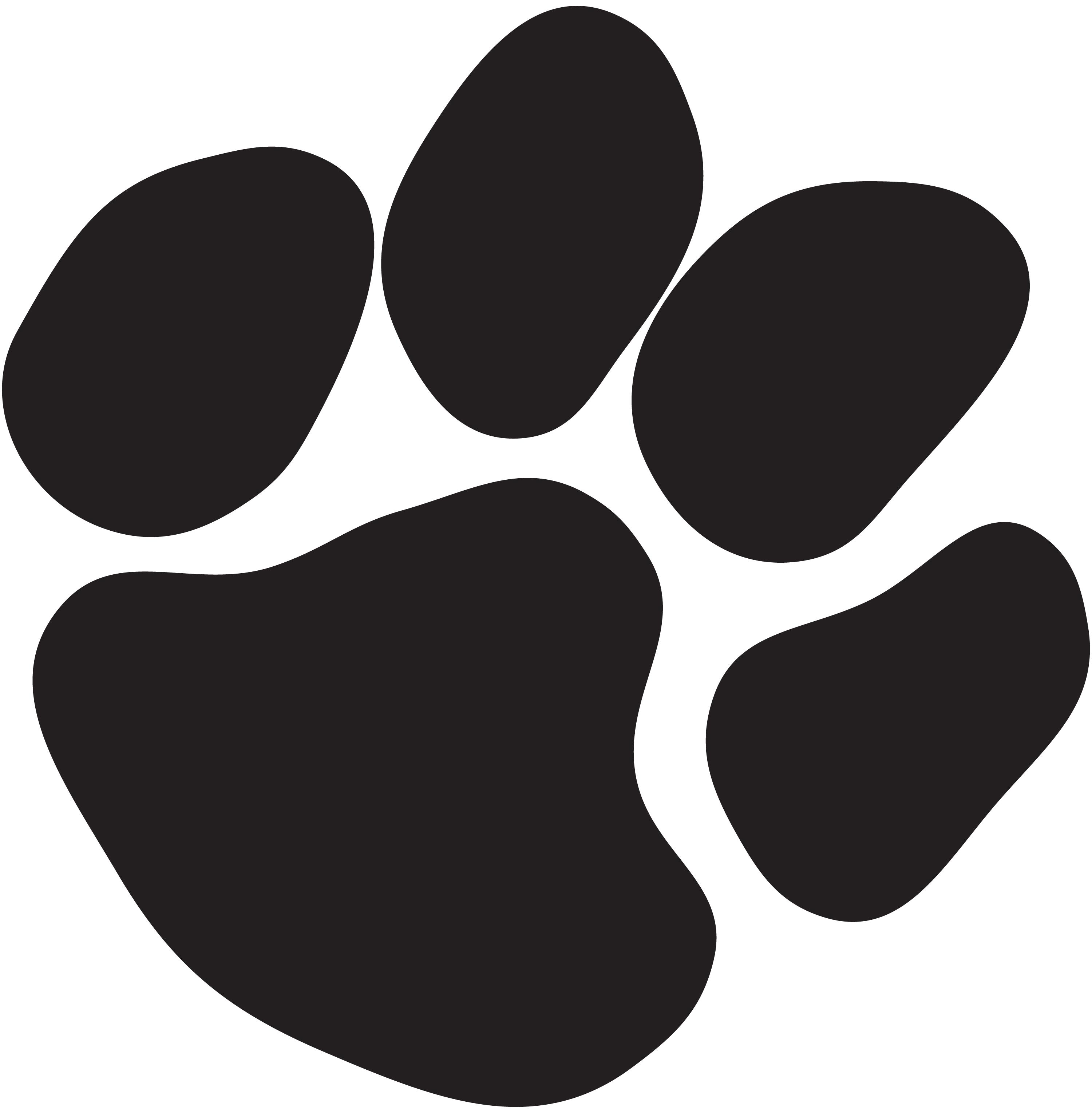 Black Paw Print Logo