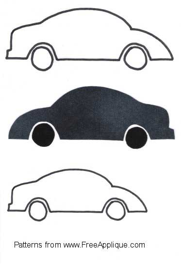 5 Images of Printable Race Car Pattern