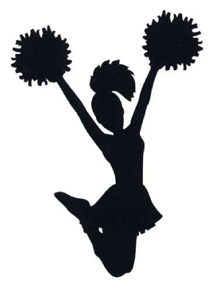 5 Images of Printable Black And White Cheerleader