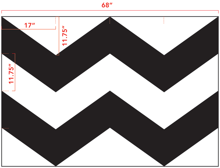 9 Images of Chevron Template Printable Large
