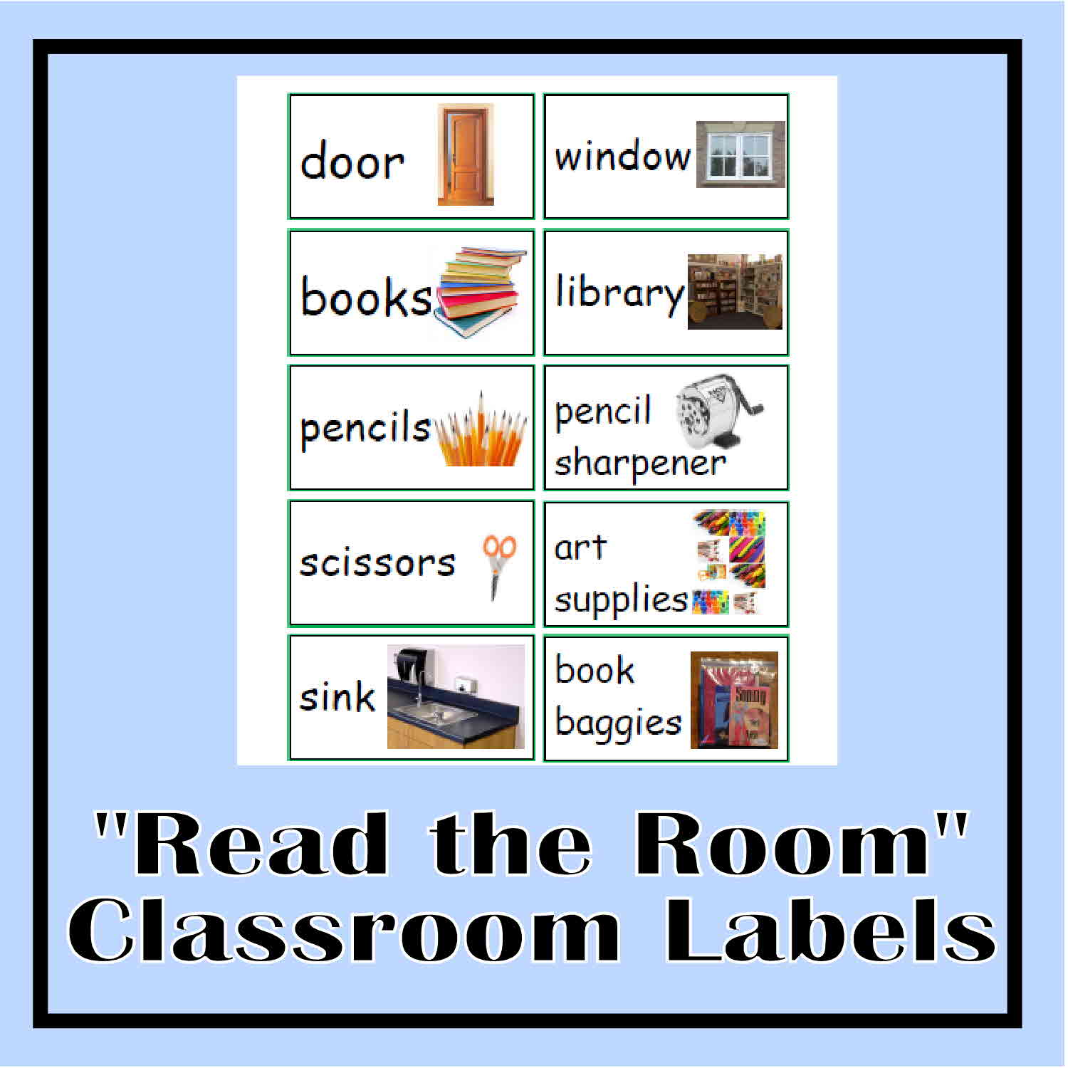 6 Images of Classroom Labels With Printable