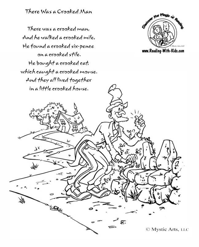 nursery rhyme coloring pages - 8 best images of this old man nursery rhyme printable