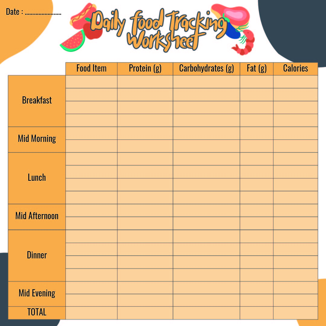 Daily Food Tracker Printable