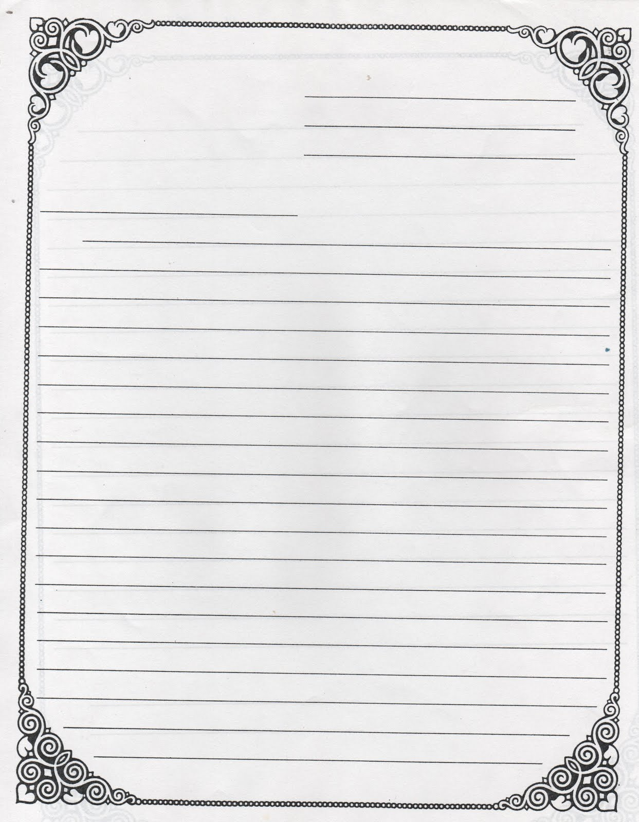 Letter Writing Paper Template from www.printablee.com