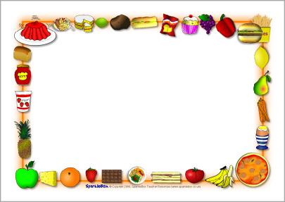 4 Best Images of Free Printable Food Borders - Picnic Page ...