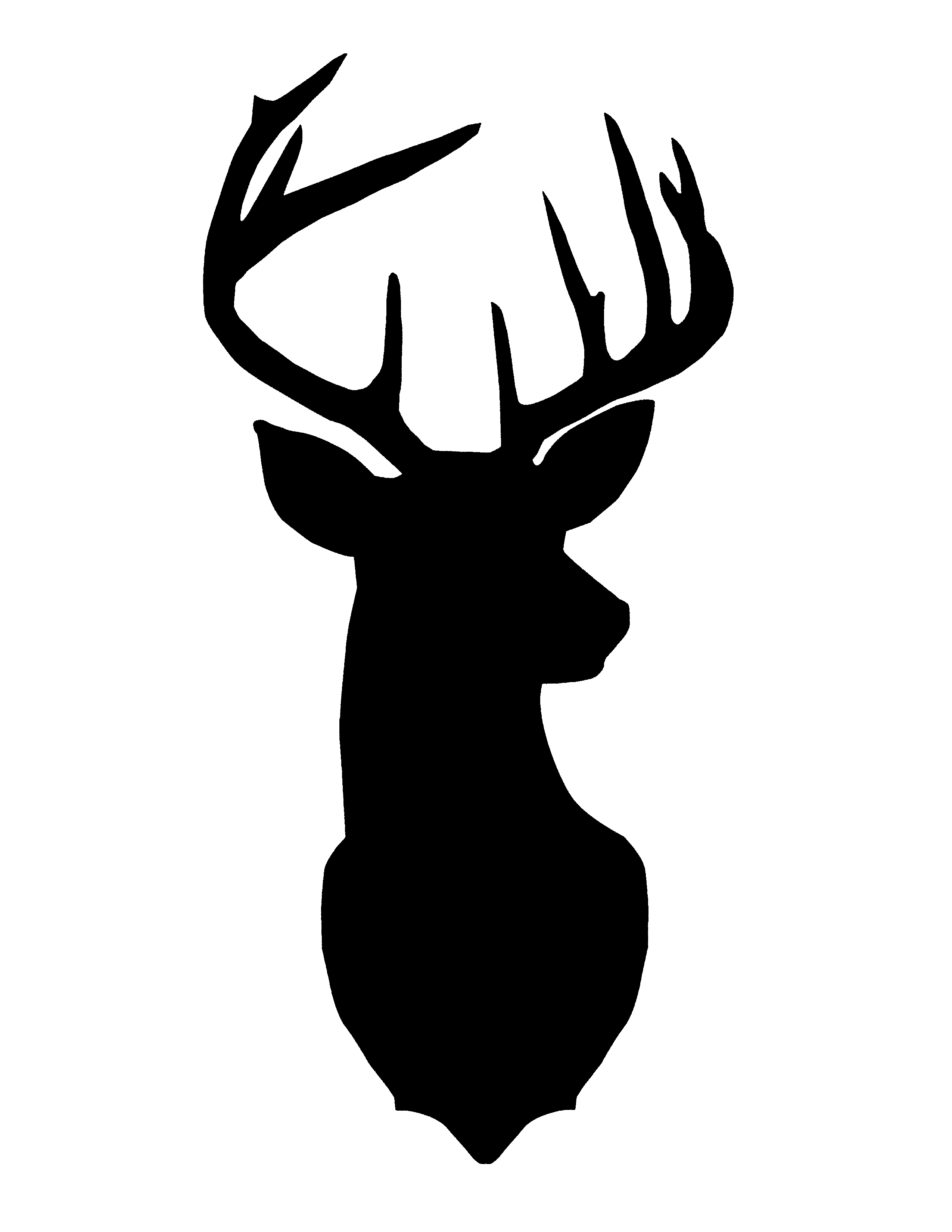 6 Images of Printable Christmas Deer Head Silhouette