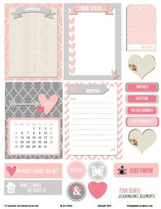 Free Heart Printable Journal Cards