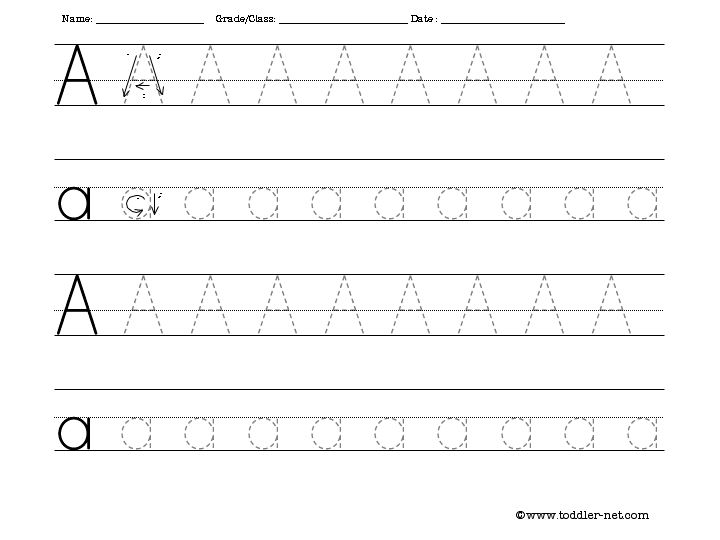 Common Worksheets » Alphabet Tracing Worksheet - Preschool and ...