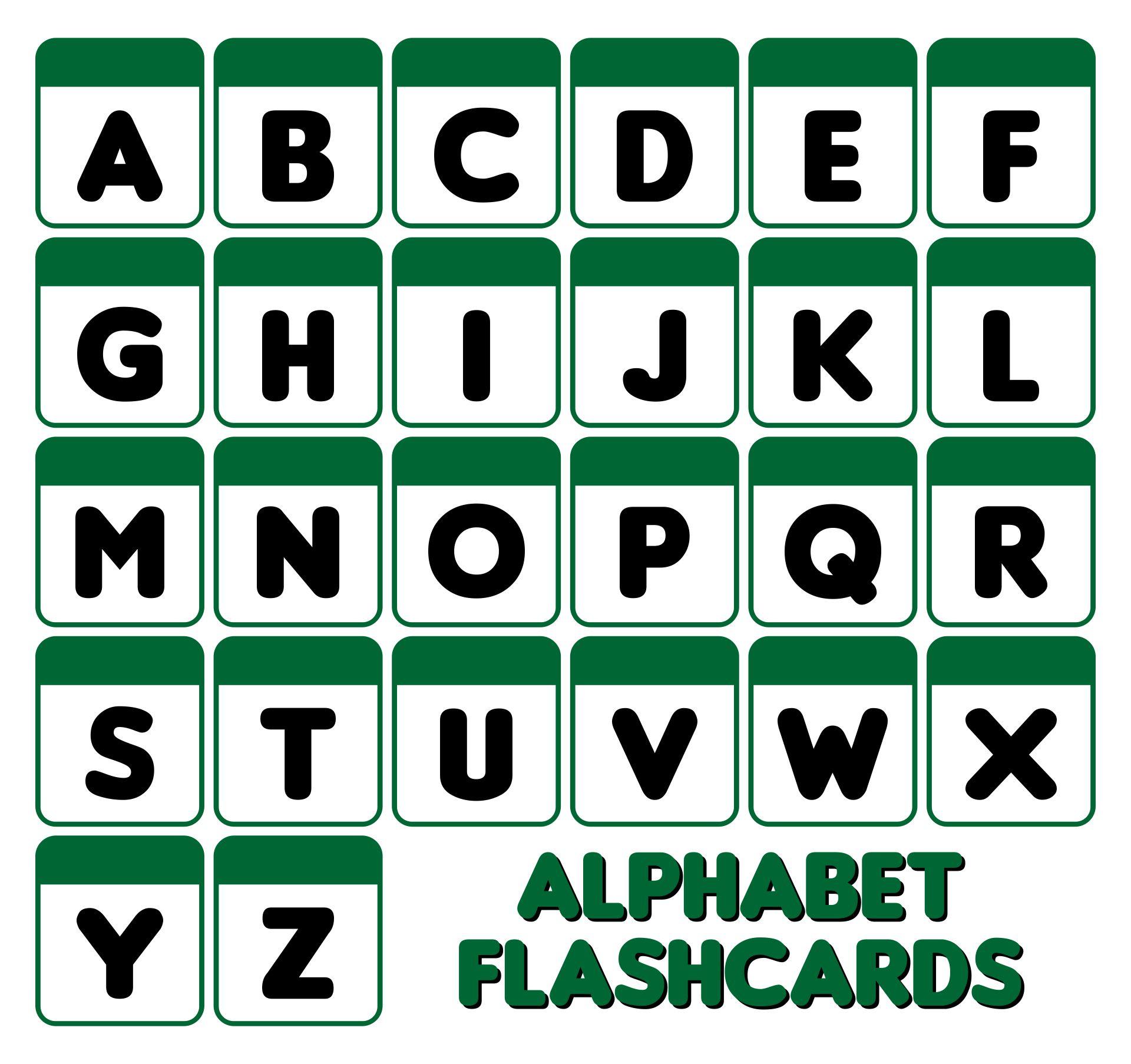 Printable Alphabet Letter Cards