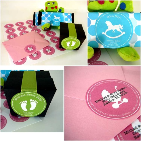 7 Images of Printable Labels Templates Baby Shower