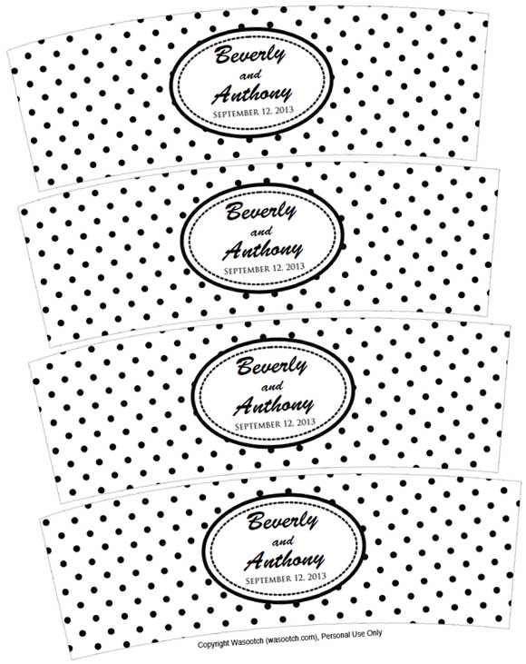 6 Images of Black And White Wedding Printables