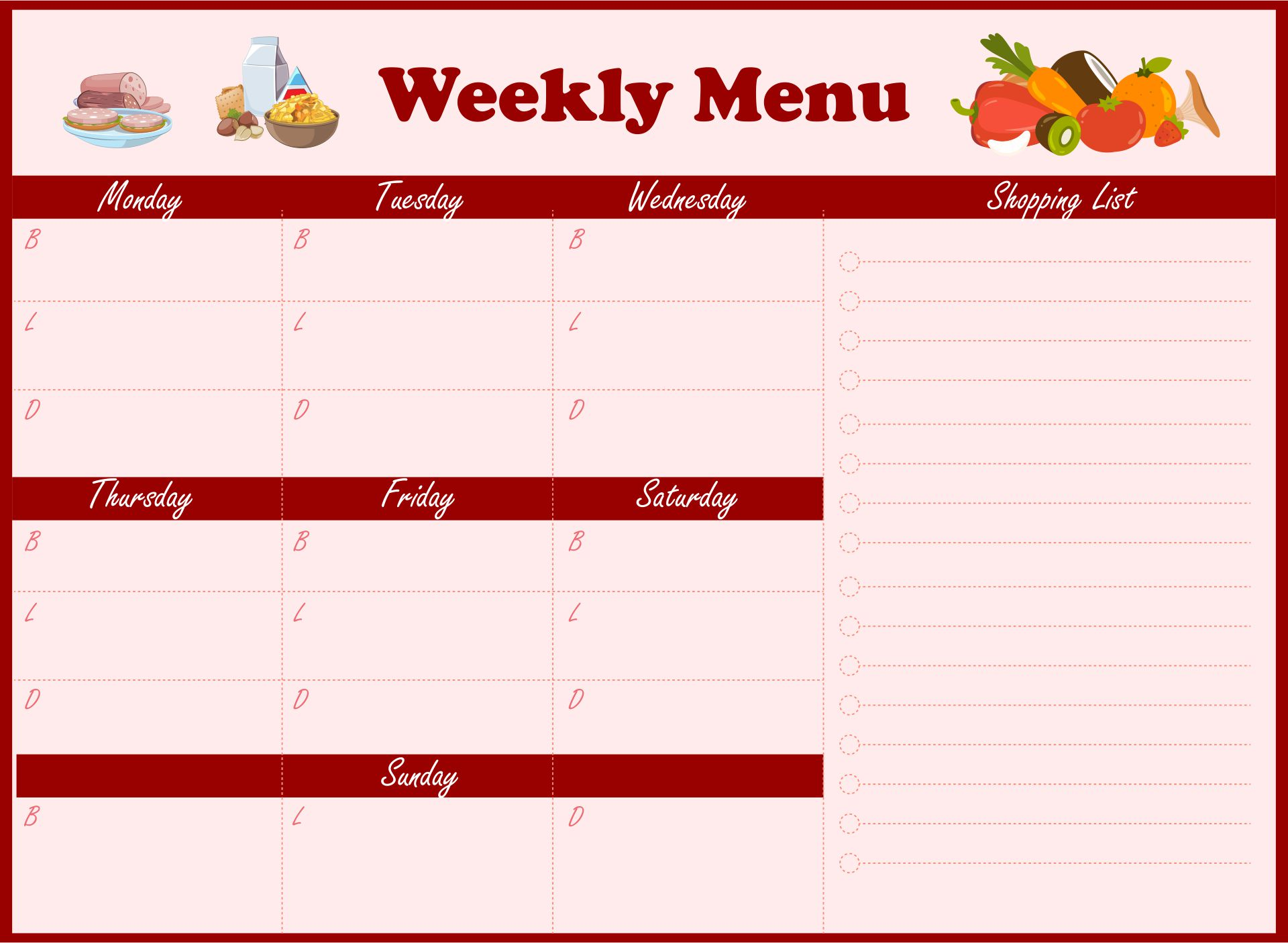 6 best images of sample daycare menus printable sample for Daycare food menu template