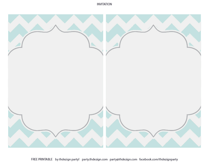 Free Printable Chevron Invitation Template