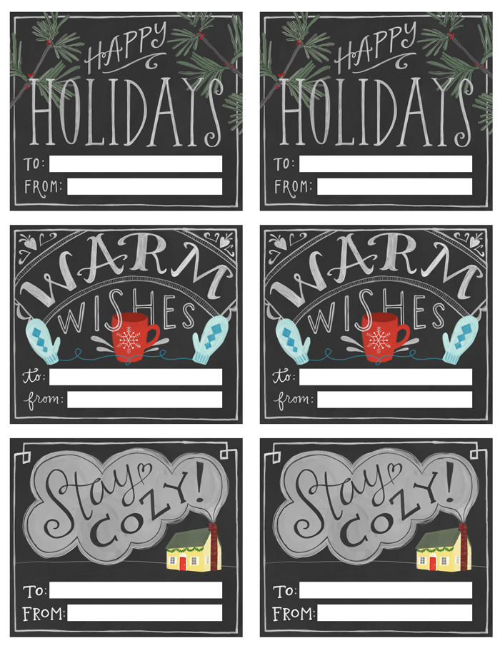 7 Images of Printable Chalkboard Gift Tags