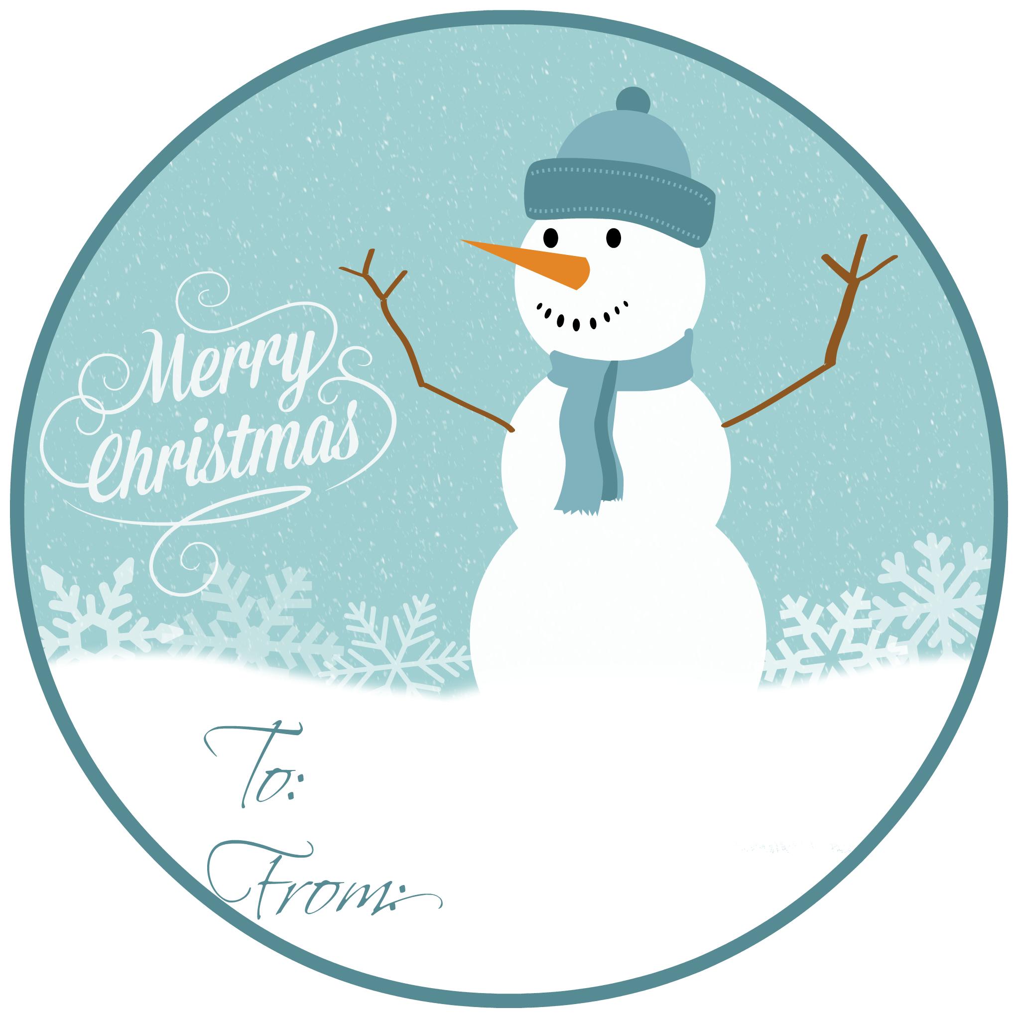 Free Printable Christmas Gift Tags Snowman