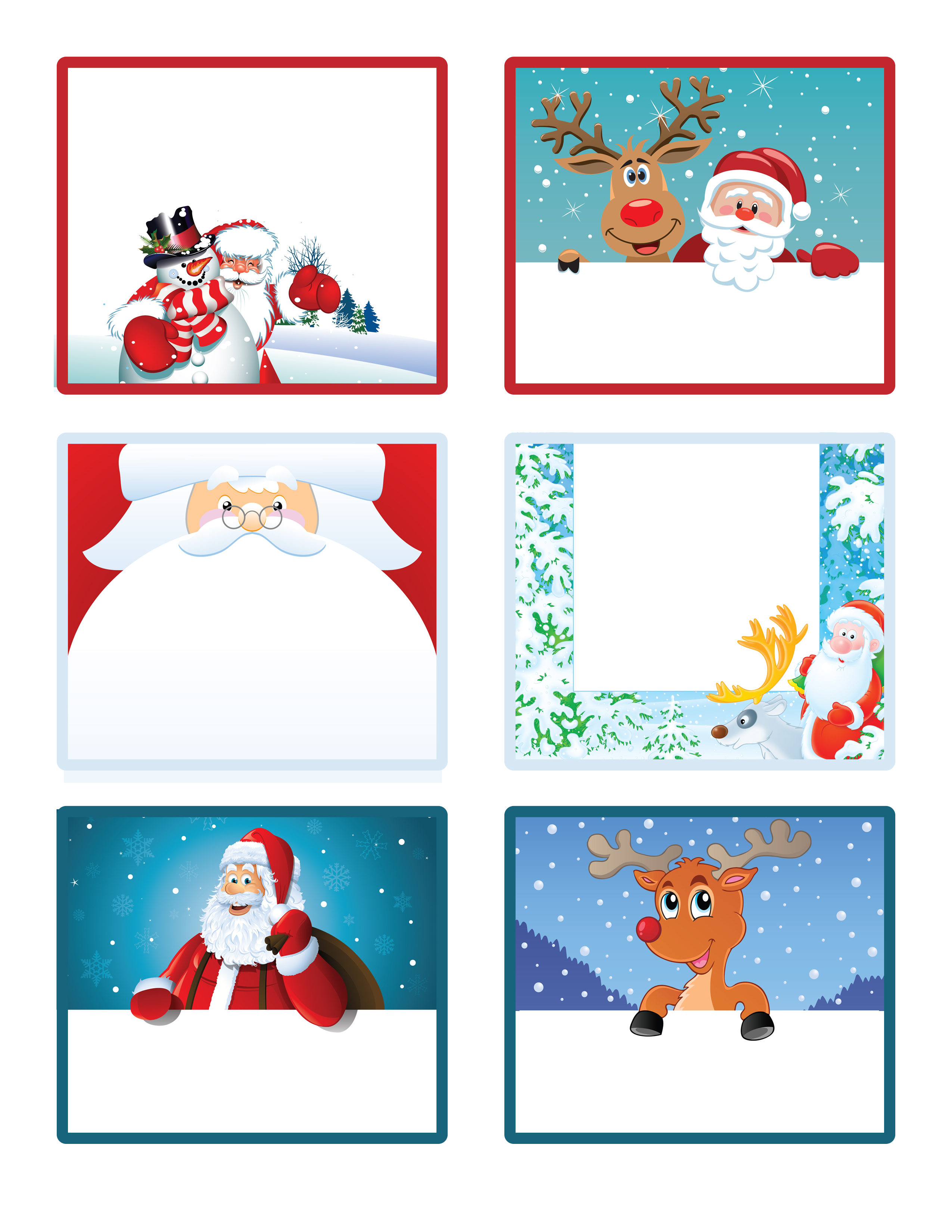10 Images of Free Printable Christmas Gift Tags From Santa