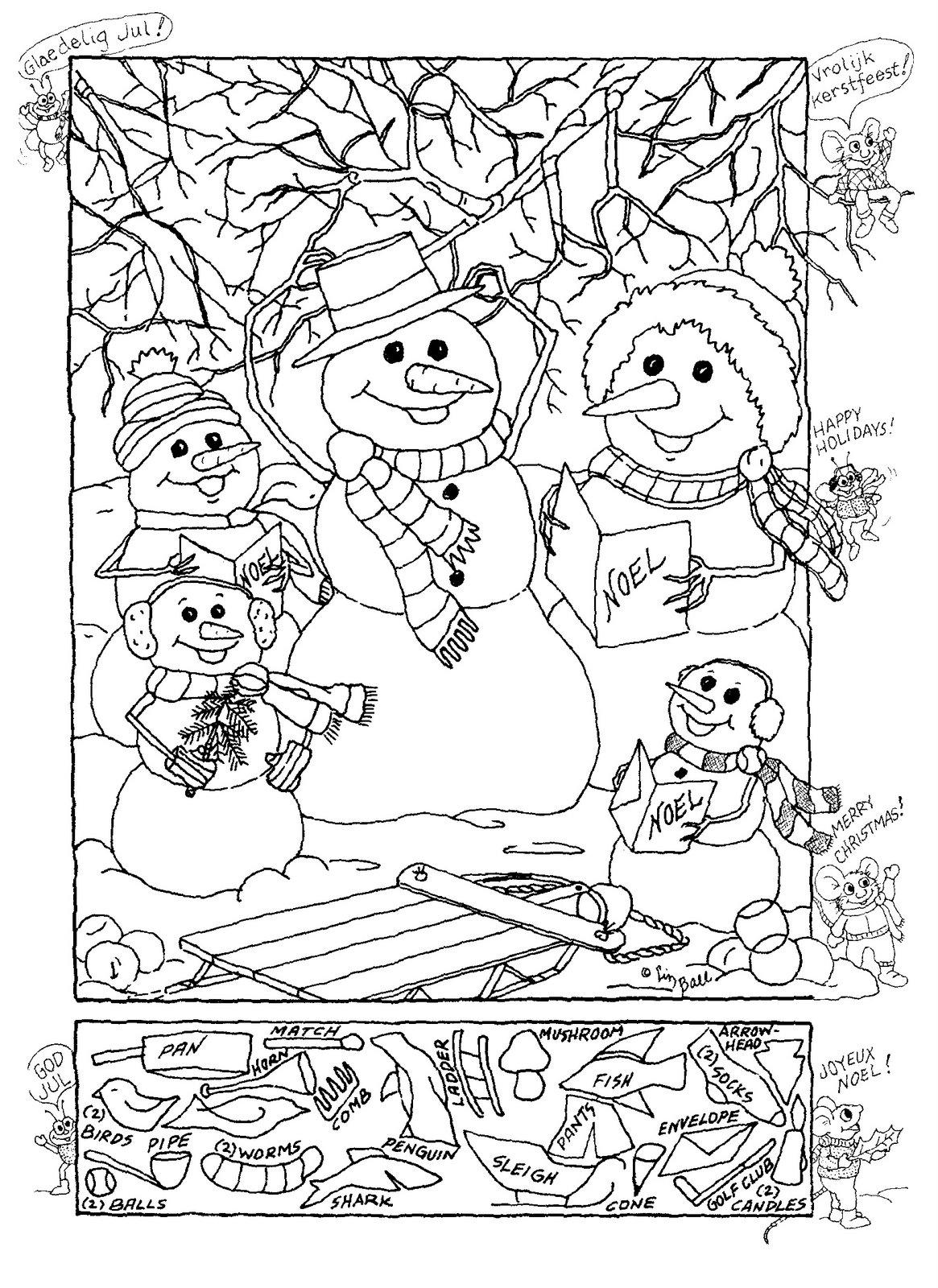 Free Printable Christmas Hidden