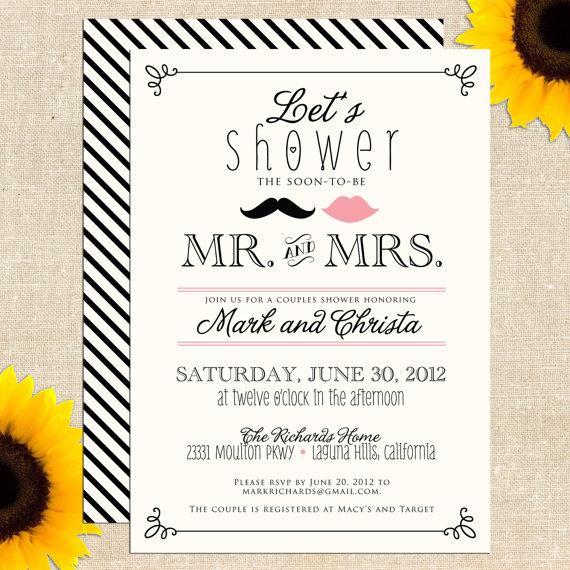 6 best images of free printable bridal shower wedding With printable couples wedding shower invitations