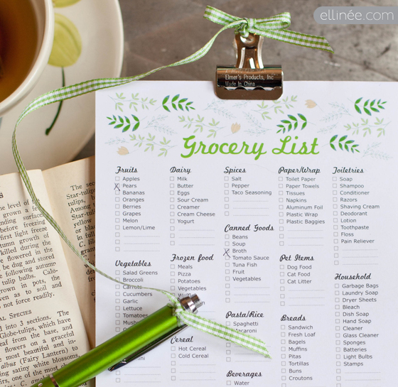9 Images of Itemized Printable Grocery List
