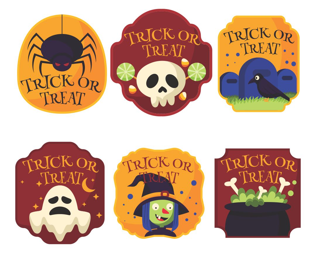 5 Images of Free Printable Halloween Tags Vintage