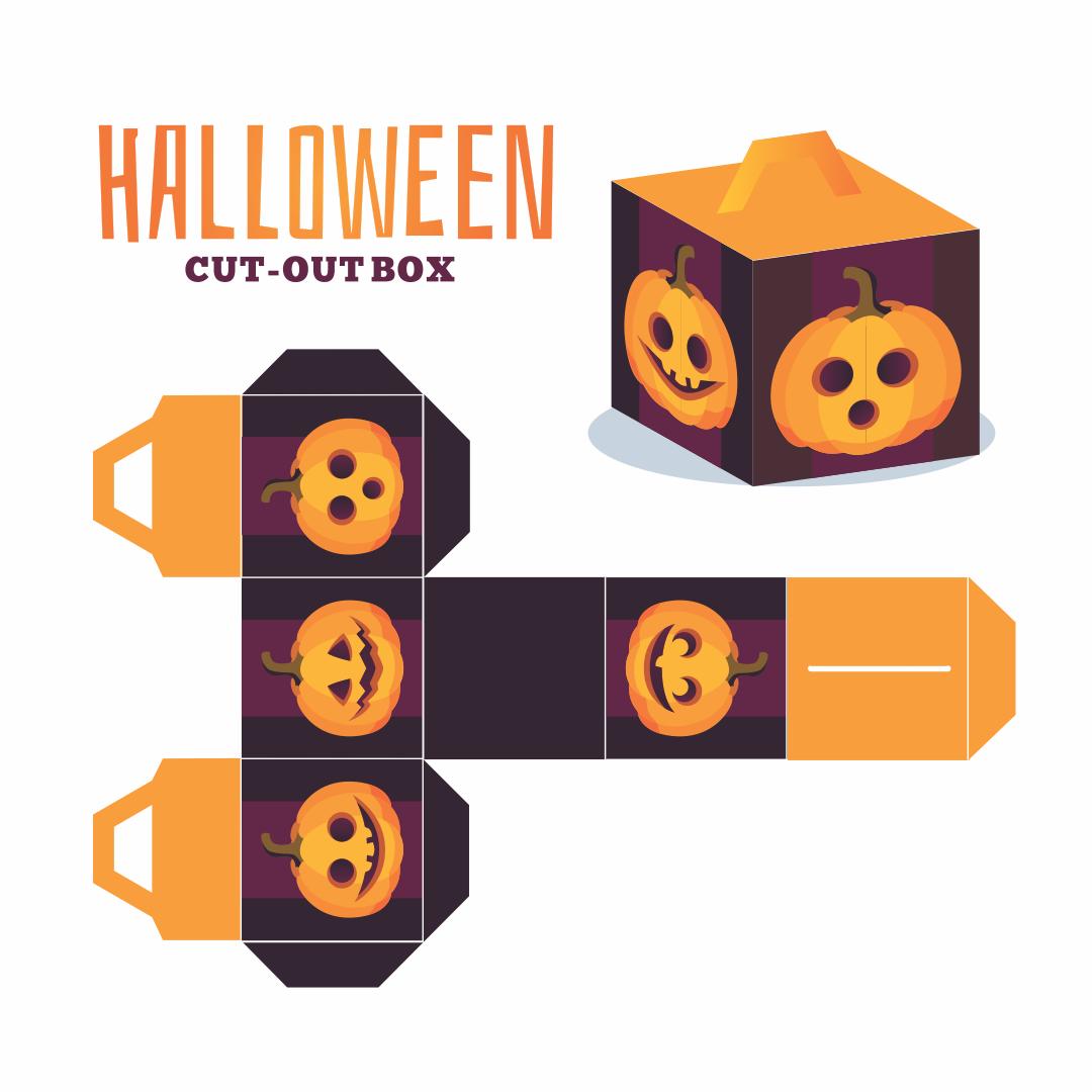 Printable Halloween Treat Box
