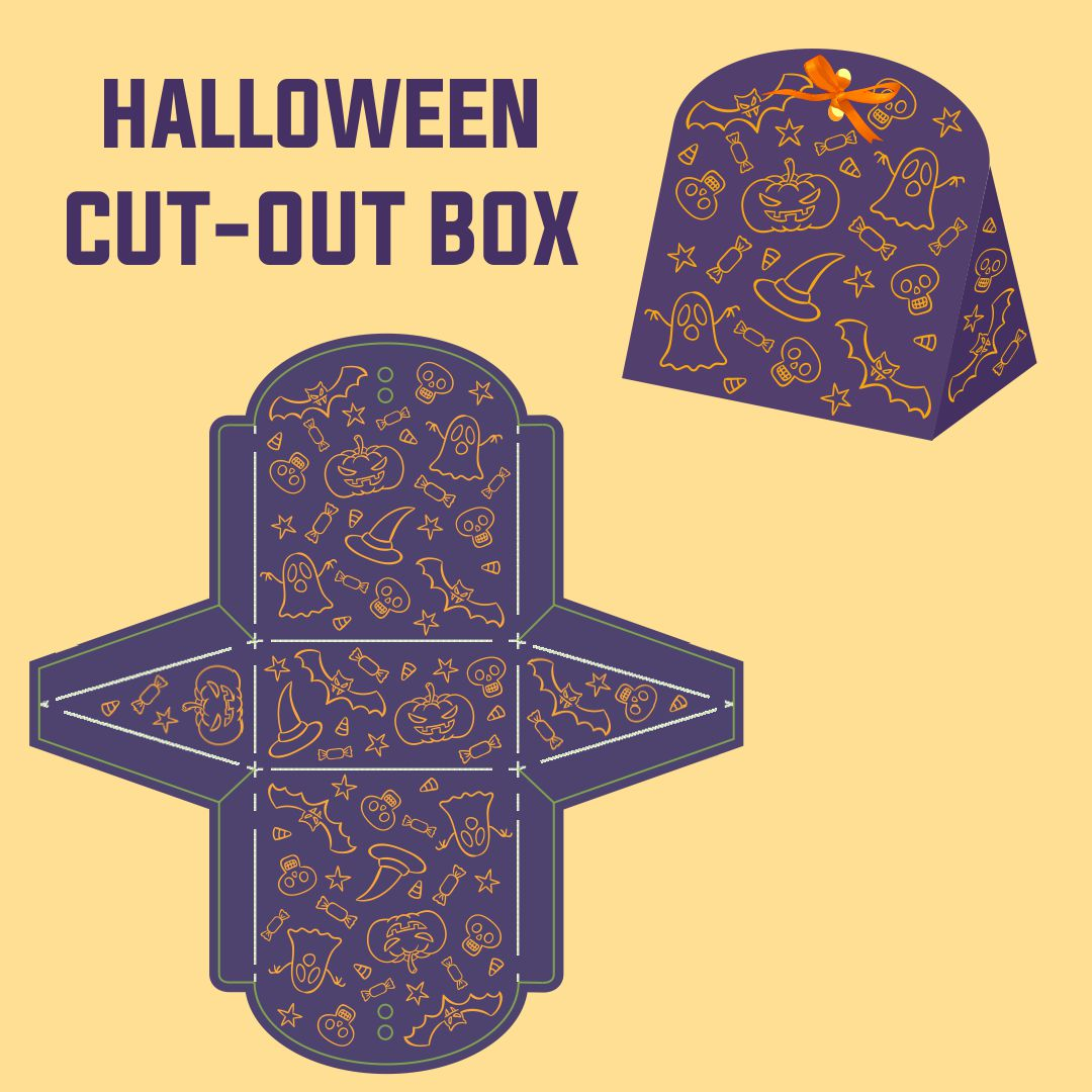7 Images of Halloween Printable Gift Boxes