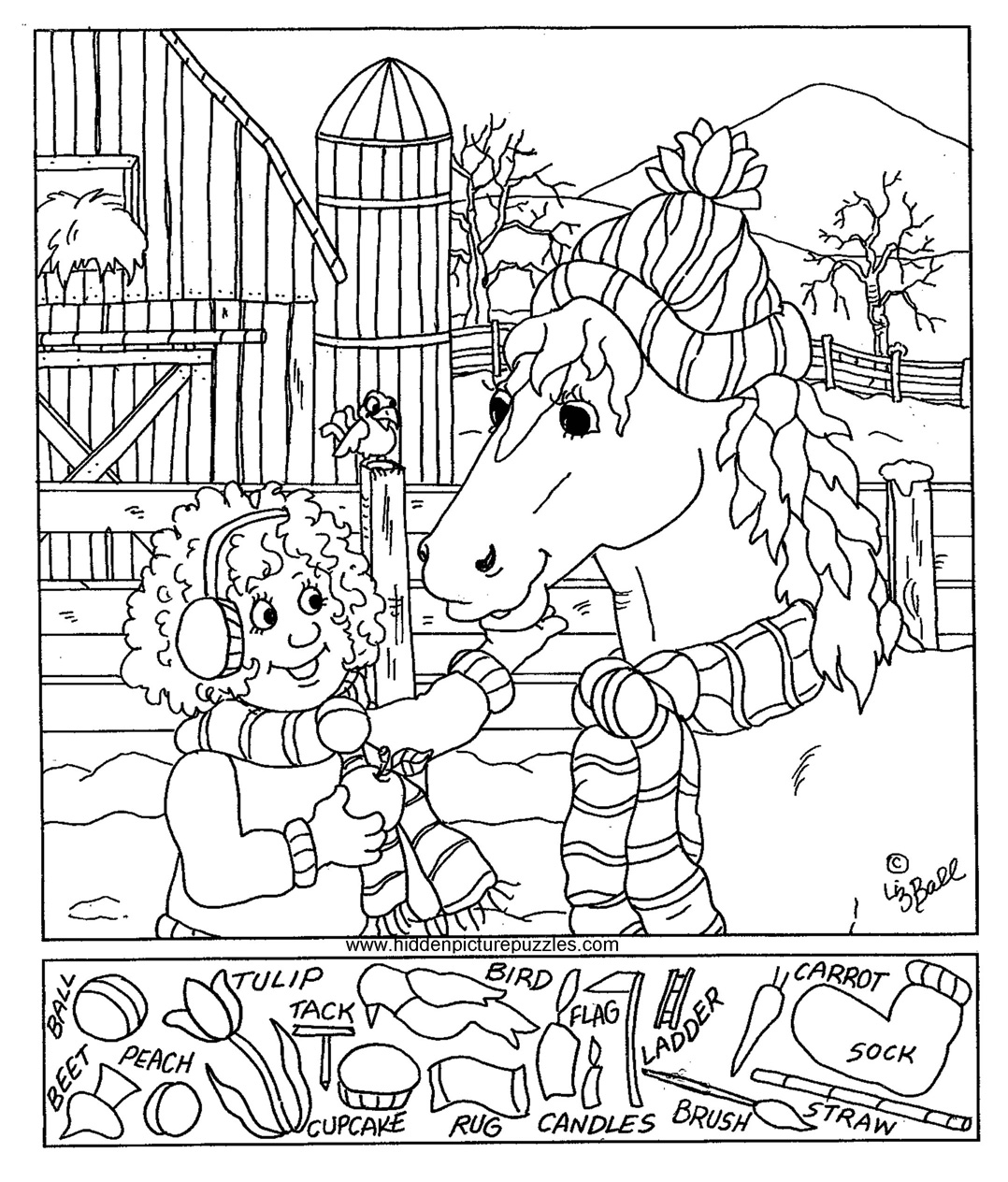 Free Printable Hidden Picture Coloring Pages