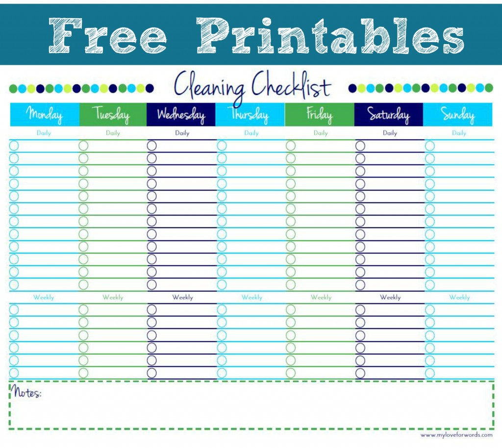 5 Images of Printable Exercise Checklist
