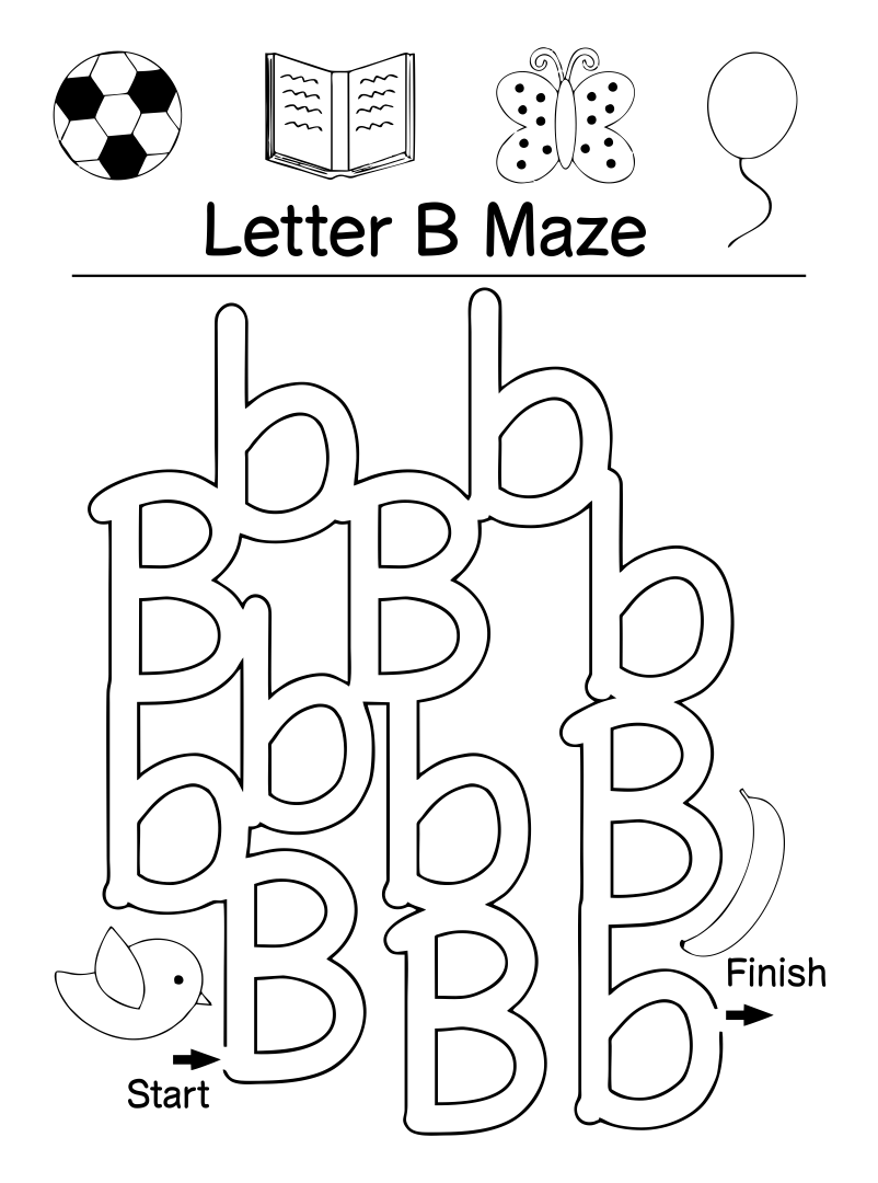 5 Images of Free Printable Alphabet Letter B Worksheets