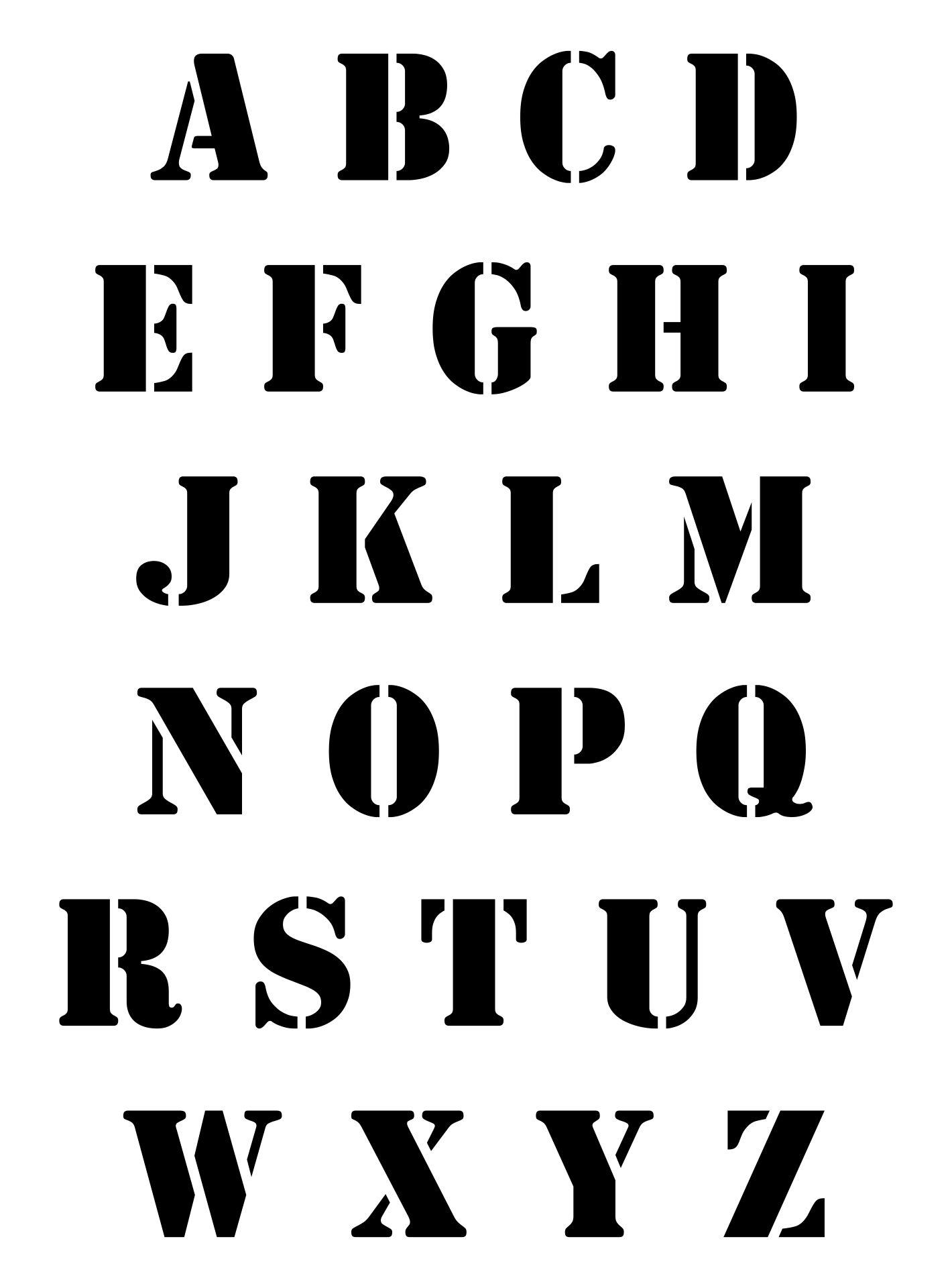 Printable Letter Stencil Patterns