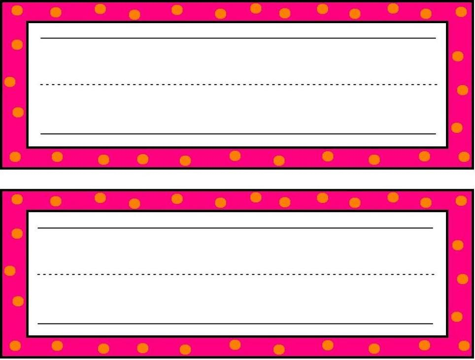 6 Images of Printable Preschool Name Tags