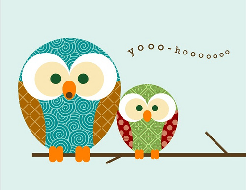 Free Printable Owl Card