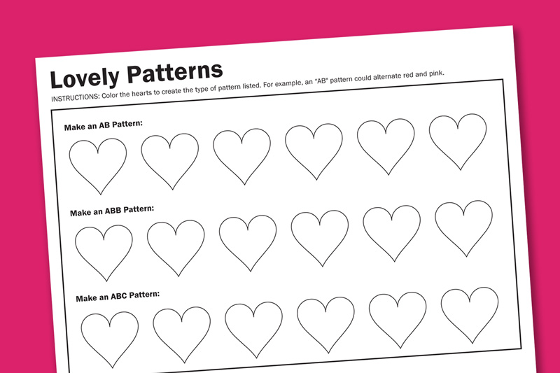 Pattern Worksheets : pattern worksheets for nursery ~ Free ...