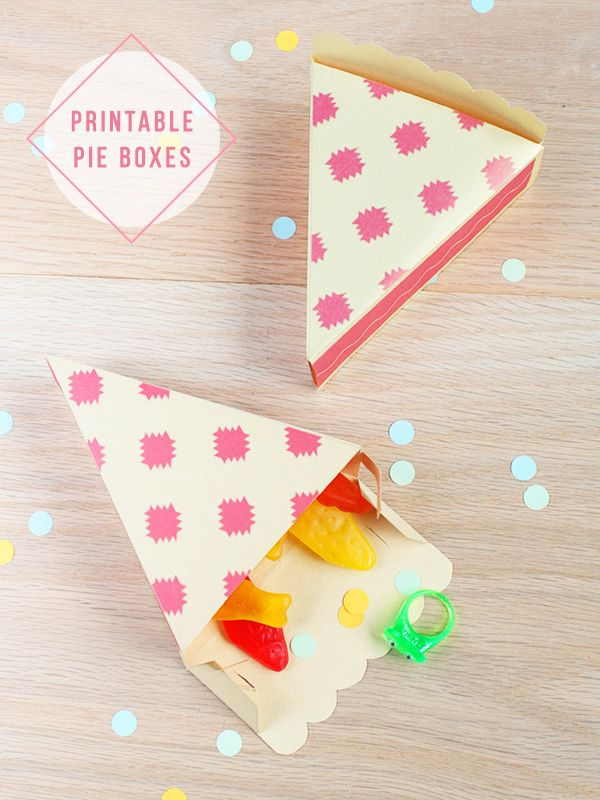 8 Images of Free Printable Treat Boxes