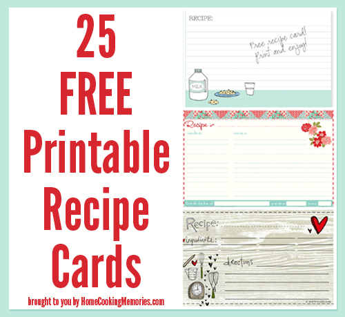 9 Images of Free Printable Recipe Cards