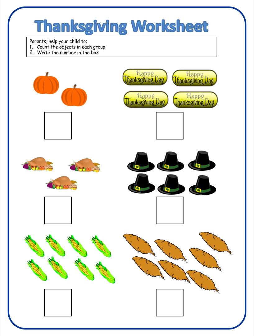 8 Best Images of Preschool Printables Thanksgiving Worksheets – Free Thanksgiving Worksheets for Kindergarten