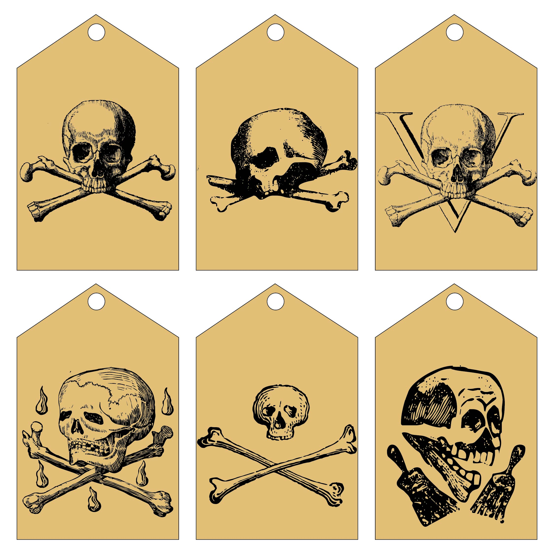 Printable Vintage Hang Tags