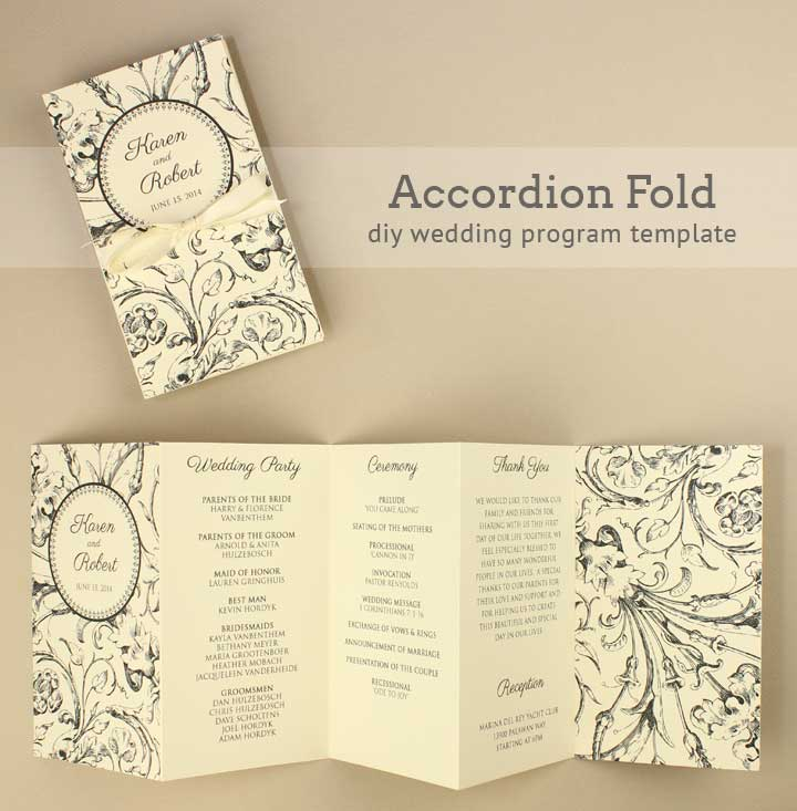 9 Images of Free Printable DIY Wedding Programs