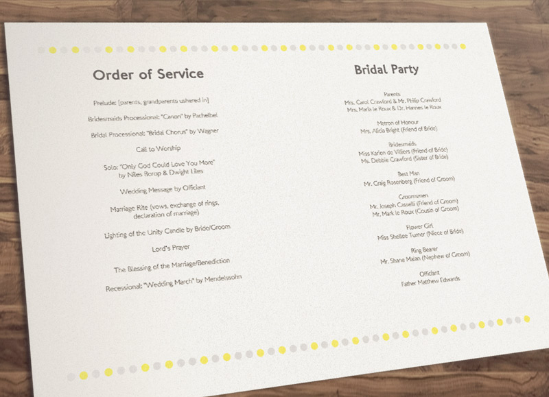 9 Best Images Of Free Printable DIY Wedding Programs